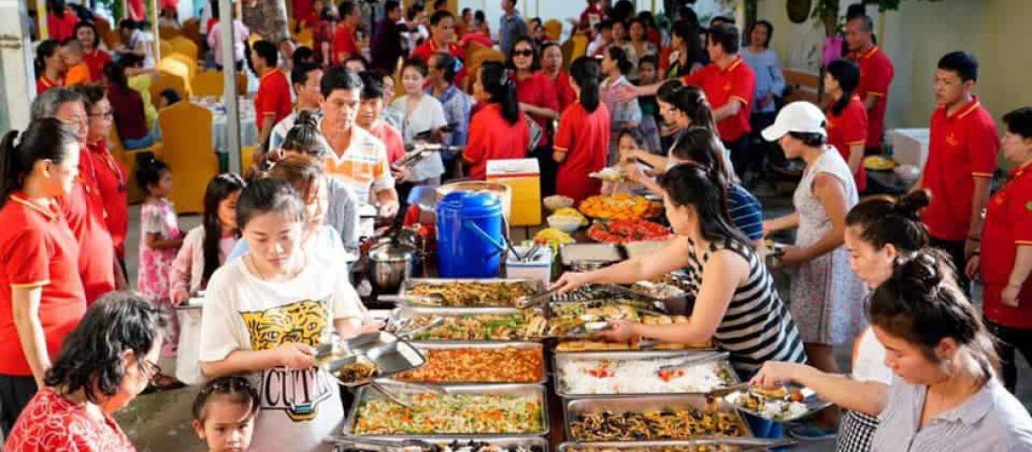Free Vegetarian Event in Combodian Guan Yin Citta Practising Center Pic 2